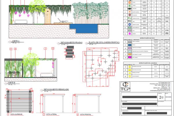 Projeto de Paisagismo: prancha de projeto 2