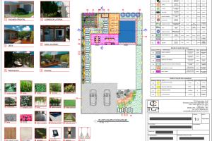 Projeto de Paisagismo: prancha de projeto 1